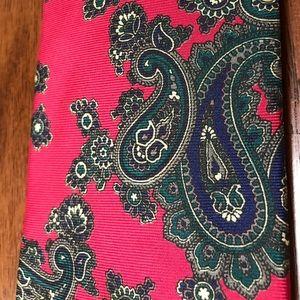 Vintage Paisley Tie Red Silk